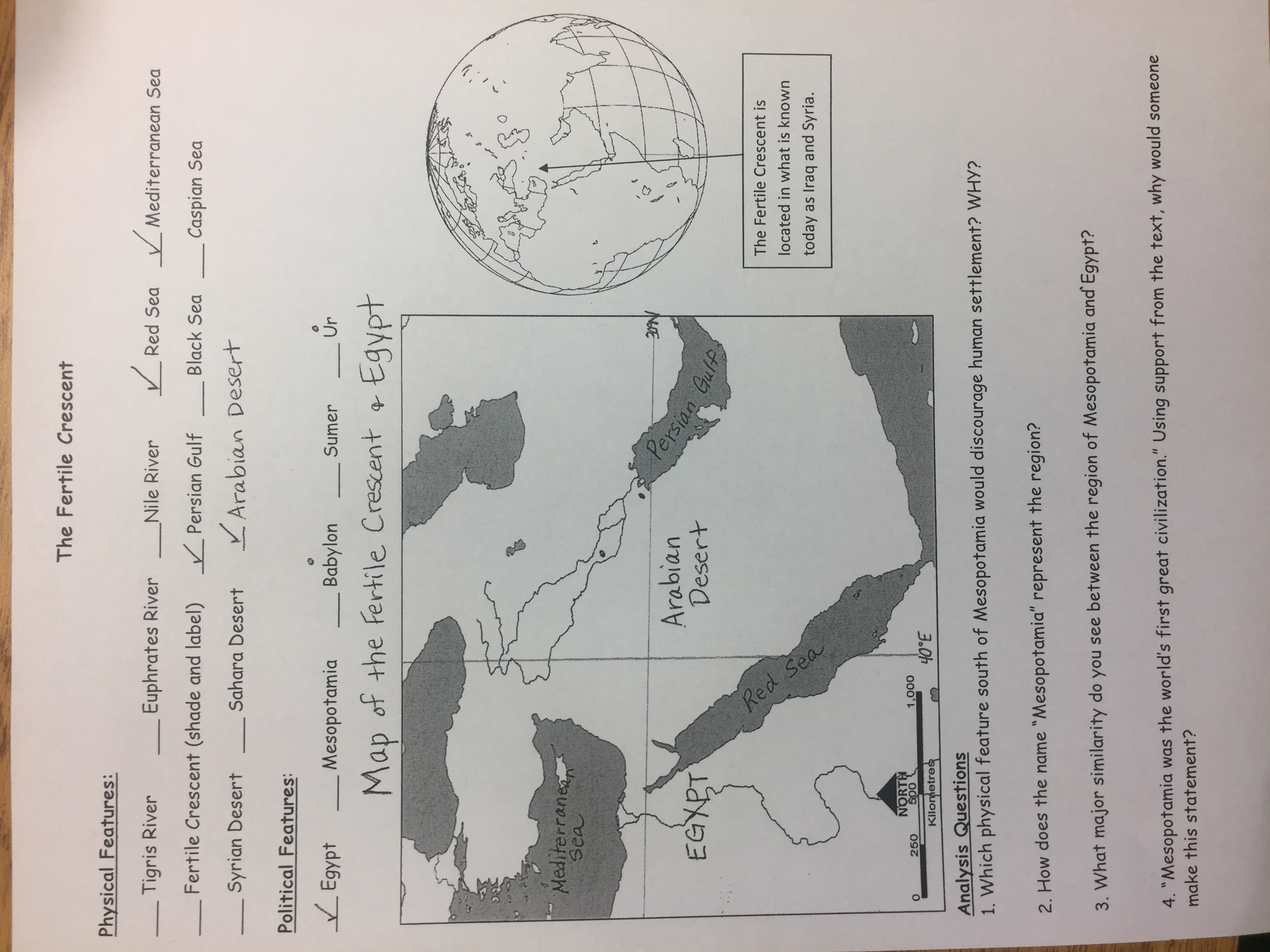 Social studies map of fertile crescent projected in class picture of p 320 of textbook study sheet on mesopotamia mesopotamia reading questions gumiabroncs Images
